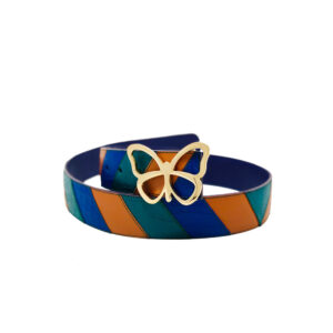 The Chevron Reversible Leather Belt is Composed of Individually Hand Cut Pieces of Leather. Elizabeth Sutton Collection.The Chevron Reversible Leather Belt is Composed of Individually Hand Cut Pieces of Leather. Elizabeth Sutton Collection.