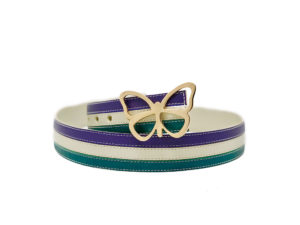The Triple Stripe Reversible Leather Belt is The Perfect Blend of Tones. They Create a Harmonious Design. Elizabeth Sutton Collection.